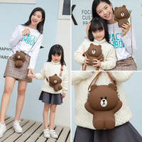 Wholesale bear phones for sale – best Silicone Cartoon Parent child Messenger Bag Cute Bear Pig Sally Chicken Mobile Phone Bag Shoulder Hand Bags Purses and Handbags