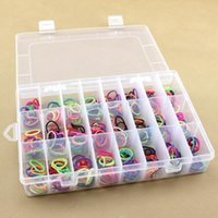 Wholesale plastic adjustable compartment box resale online - Adjustable Plastic Case for Bead Rings Jewelry Display Organizer Life Essential Compartment Storage Box Practical SY0004