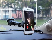 gösterge tablosu cep telefonu tutucuları toptan satış-Evrensel Araç Telefonu Tutucu Braketi GPS Aksesuarları Vantuz Soporte Celular Para Oto Dashboard Cam Cep Cep Geri Çekilebilir Dağı