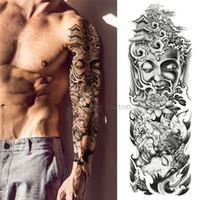 tatuajes de brazos para hombres al por mayor-Mecánico brazo de hierro se levantó Manga del brazo grande Tatuaje impermeable tatuaje temporal Etiqueta engomada Hombres Flor llena Tatoo Body Art tatuaje chica