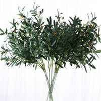 Wholesale Simulation Olive Branch Fork Fork Branch Leaf Simulation Plant DIY Home Wedding Party Decoration