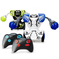 Wholesale girl electric toys resale online - Silverlit ROBO KOMBAT TWIN SET Boxing Remote Control Fighting Robots Electric Combat Toys For Boy set LJJO7183