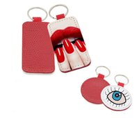 anneau sac pièces accessoires achat en gros de-20pcs sublimation unique blanc grain de peau de serpent Keychain Accessoires Gland Porte-clés Sac Pièces