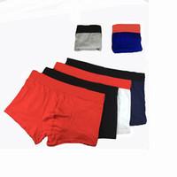 sıcak erkek külot toptan satış-Lüks Tasarımcı Erkek Iç Çamaşırı 2019 Sıcak Marka Seksi Erkek Iç Çamaşırı Boxer şort rahat pamuklu Iç Çamaşırı Erkek Pantolon külot Erkek Külot