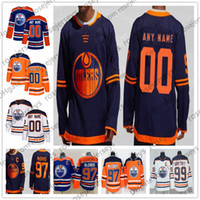 Wholesale youth connor mcdavid jersey for sale - Group buy Customized Edmonton Oilers NEW Navy Blue Third Jersey Custom Any Number Name men women youth kid White Orange McDavid Gretzky Neal XL