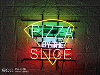 Wholesale pizza lights for sale - Group buy Fashion Handcraft PIZZA NEON SIGN HANDICRAFT LIGHT BEER BAR PUB REAL GLASS TUBE LOGO ADVERTISEMENT DISPLAY NEON SIGNS quot quot