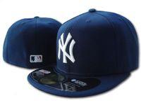 mavi kapaklar beyzbol toptan satış-20 Renkler NY Klasik Takım Lacivert Renk Sahada Beyzbol Gömme Şapkalar Moda Kalça Hop Spor ny Tam Kapalı Tasarım Kapaklar Ucuz erkek Wo