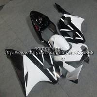 ingrosso cuscini neri cbr954rr-Gift + Viti coprimoto bianco nero per HONDA CBR954RR 2002 2003 02 03 Carenatura in plastica ABS
