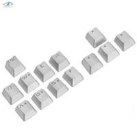 ingrosso tappi in alluminio-[HFSECURITY] Metallo retroilluminato Portachiavi meccanico Keycaps Cherry Cross Axis Usa lega di alluminio ESC QWERASDF Key Caps