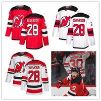 şeytan hokeyi formaları toptan satış-Erkekler Damon Severson forması Erkekler New Jersey Devils 20 Fanatics Kırmızı Beyaz Deplasman Premier Kopan Alternatif Hokeyi Jersey gençlik kadın
