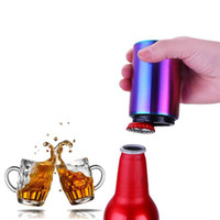 Wholesale beers automatic opener for sale - Group buy Automatic Bottle Opener Magnetic Beer Bottle Soda Cap Wine Opening Tool Stainless Steel Bottle Opener Kitchen Bar Accessories OOA7028