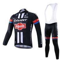 riesen radsport jerseys männer großhandel-GIANT Team Cycling Langarm Trikot (Trägerhose) Herren Quick-Dry Rennrad Ropa Ciclismo Maillot Ropa Ciclismo