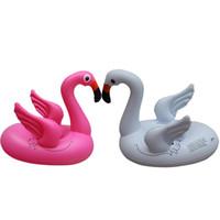 ingrosso cerchio di nuoto per bambini-78 * 58 * 65cm Baby Flamingo Galleggiante Anello Nuoto Salvagente Anello Galleggiante Flamingo Water Circle Flamingo Giocattolo Gonfiaggio Aria CCA11535 12 pz