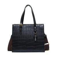 schlange farbe handtasche groihandel-Toten Damen Freizeit Solid Color-Schlange-Muster Crossbody Beutel-Schulter-Beutel-Kurier-beiläufige Handtasche Fashion Sexy #GEX