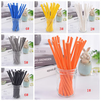 Wholesale colorful drinking paper straw resale online - 22 Styles Biodegradable Paper Straw Environmental Colorful Drinking Straw Wedding Kids Birthday Party Decoration Supplies Dispette BC BH3693
