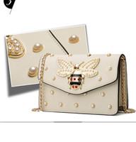 sahte deri lüks çanta toptan satış-Tasarımcı lüks çanta cüzdan kadın çanta Crossbody Çanta çanta tasarımcısı İnci suni deri sırt çantası yüksek kaliteli ünlü Omuz Çantaları