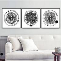 duvar sanatı beatleri toptan satış-YUMEART Kasımpatı Çiçek Kanvas Salon Dekorasyonu için Çiçek Duvar Resimleri alıntı Siyah Beyaz Duvar Sanatı Posterler yazdırır