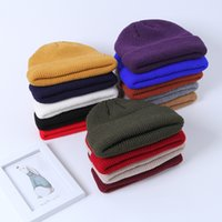 cabeza más caliente hombres al por mayor-Hombre Beanie Knitted Hat Moda Hombres Warm Winter Cover Head Hat Street Style Knit Cap Outdoor Travel Ski Cap TTA1584