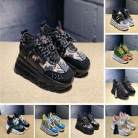kızlar için koşu ayakkabıları toptan satış-2019 Zincir Reaksiyon Ayakkabı Kamuflaj Çiçekler Moda Mens Womens Koşu Ayakkabıları Yumuşak platformu sneakers Kızlar Eğitmenler Spor Ayakkabı Boyutu 35-46