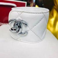 pulseras de metal de encaje negro al por mayor-Nueva piel de oveja con cabeza de rombo bordado clásico de 7 colores, pulsera de moda para mujer con caja original