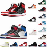 en iyi tasarımcı ayakkabı erkek toptan satış-1 Yüksek OG Travis Scotts Basketbol ayakkabıları Spiderman UNC 1s ilk 3 Mens hürmet etmek Home Royal Mavi Erkekler Spor Tasarımcı Sneakers Eğitmenlerini