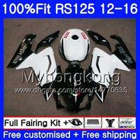 aprilia rs 125 weiß großhandel-Einspritzung für Aprilia RS-125 RS125RR RS4 RS125 12 13 14 15 16 Schwarz Weiß 315HM.10 RSV125 RS 125 2012 2013 2015 2015 OEM-Verkleidungssatz