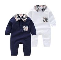 18 monate koreanisches baby großhandel-Frühling und Herbst Baby Kleidung weibliche koreanische Ausgabe Neugeborenen Klettern Kleidung Gezeiten ausgehende Baby Hayi 0-3 Monate Neugeborene Uniform Kleidung