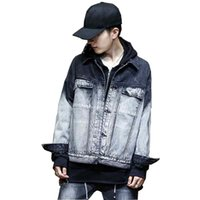 8b7f5ad5cc9 Mcikkny Fashion Men s Denim Jackets Washed Black Blue Vintage Jeans Jackets  Streetwear Coats For Male Size M-XL