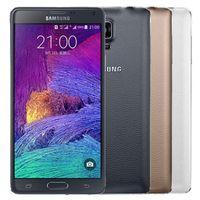 Refurbished Original Samsung Galaxy Note 4 N910F 5.7 inch Quad Core 3GB RAM 32GB ROM 16MP LTE 4G Phone DHL 10pcs