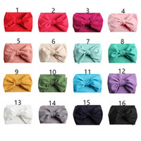 Wholesale hair bows christmas for girl resale online - 7inch Baby Bows Headbands Bowknot Hair Wraps Butterfly Knot Multicolor Hairbows Hoops for Newborn Toddlers Girls Party decora Color A42202