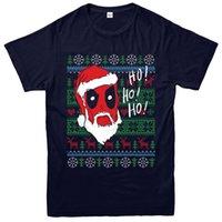 d3cbf4bfc camisetas baratas de navidad para niños al por mayor-Deadpool Santa  camiseta de Navidad,