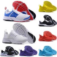 presto air femmes achat en gros de-Nike Air Max Pas cher Designer Baskets PRESTO BR QS Breathe Jaune Noir Blanc Hommes Baskets prestos Chaussures Femme Course Chaussures De Sport Marche Casual