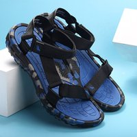 Wholesale quick drying shoes men resale online - Black Friday Summer Men Shoes Breathable Quick Dry Beach Sandals Casual Shoes Men Flat Soft Light Thick Sole Camouflage Summer Shoes