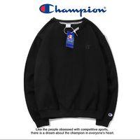 bordado de terciopelo al por mayor-20 colores de calidad superior de las mujeres Hoodies agua de lavado estándar + anti-falsificación hebilla CHAMP C bb pequeño bordado más terciopelo hombres suéter