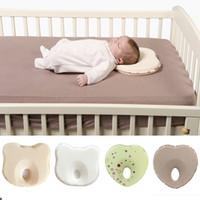 almohada antirruido recién nacido al por mayor-Almohada para bebé caliente forma infantil niño dormir posicionador anti rollo cojín cabeza plana almohada protección de recién nacido almohadas bebe
