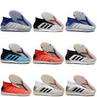 mens kapalı futbol toptan satış-2019 erkek futbol ayakkabıları kapalı futbol krampon Predator Tango 19+ İÇİNDE TF IC futbol ayakkabıları Predator 19 scarpe calcio