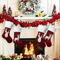 Wholesale christmas long socks resale online - Christmas Gift Bag Christmas Stocking Christmas Tree Ornament For Kids Candy Bag Stocking New Year Prop Socks Xmas Decoration