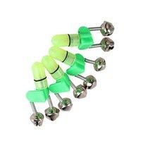 kaufen rotes licht großhandel-4 STÜCKE LED Angelrute Bissanzeiger Rotlicht Twin Bells Clip Alarm Werkzeuge YS-BUY