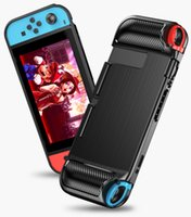 Wholesale game cases nintendo resale online - Anti fingerprint Soft Case for Nintendo switch Silicone Anti slip Protective Cover for Switch Lite Game Carbon Fiber Housing