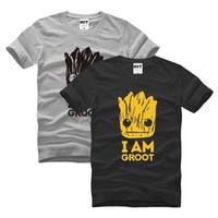 camiseta del héroe al por mayor-camisa de verano T tema de Halloween Super Hero Soy Groot calidad superior de diseño de moda para hombre de manga corta camiseta Tops tamaño S-3XL