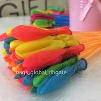 film des jours heureux achat en gros de-1pcs = 111balloon coloré rempli d'eau Ballon Bouquet de Ballons Bombes Ballon incroyable Magie de l'eau Jouets remplissage d'eau Jeux d'enfants Ballons Jouets