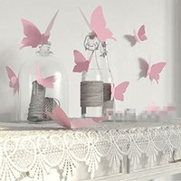 Wholesale butterfly bridal shower resale online - 12pcs Butterfly stickers country wedding bridal baby shower birthday Christmas new year Anniversary festival Backdrop Decoration