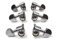 Grover Style Silver Semicircle Guitar Tuning Pegs Tuners Machine Head 3L+3R Free Shipping Wholesales