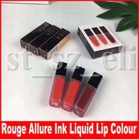 makyaj için mürekkep toptan satış-Dudak Makyaj 3 renkler dudak parlatıcısı Rouge Allure mürekkep le rouge sıvı mat ruj dudak rengi 3 in 1 lipkit