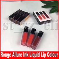 Wholesale lipsticks colours resale online - Lip Makeup colors lip gloss Rouge Allure ink le rouge liquid matte lipstick lip colour in lipkit