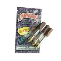 ingrosso legno vs-DABWOODS Gold Carri 0.8ml 1.0ml TH105 TH205 Vapes Cartucce Wood Bocchini Ceramic Coil 510 Atomizzatori VS Cookies TKO Cali Vape Pen