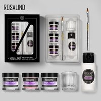 Wholesale nail kit for designs for sale - Group buy ROSALIND Acrylic Nail Kit For Nail Art Design g Powder Extension Carved For Manicure Set Gel Nail Polish Set Top And Base