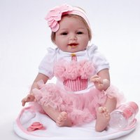 Realistic Baby Alive Girl Doll Soft Silicone Vinyl Stuffed Reborn Doll Cute Toy  Toddler Birthday Gift Bedtime Play 55 cm 4c81cad3077c