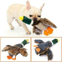 Wholesale pets stuffed animals online - Dog Toy Sound Plush Duck Stuffed Squeaking Duck Pet Toy Plush Puppy Honking Chew Squeaker Squeaky Toys AAA1815