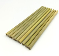 Wholesale 100 Natural bamboo straw cm reusable drinking straw eco friendly beverages straws cleaner brush bar drinking tools party supplies